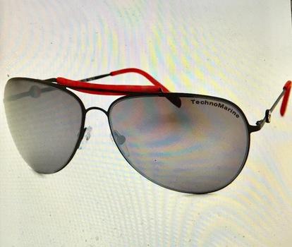 Technomarine Aviator Sunglasses Cruise Steel TMEW002 Gradient Lens - Made in Italy Retail $195