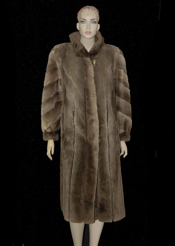 Full Length Sheared Beaver Coat - Size M/L - $2,800.00 Cold Storage Value