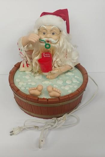 Circa 1995 Telco Motion-ette Vintage Bubble Blowing Santa Christmas Figure