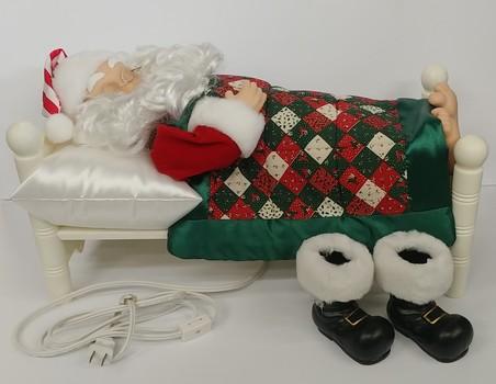 Circa 1995 Telco Motion-ettes Sleeping Santa Animatronic Figure