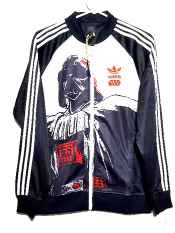 New With Tags Unisex Full Zip Adidas Original Star Wars Darth Snoop Dog Varsity Jacket Size M