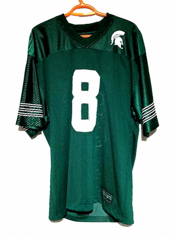Michigan State Spartans Steve & Barry's #8 NCAA Football Jersey Men's Size M