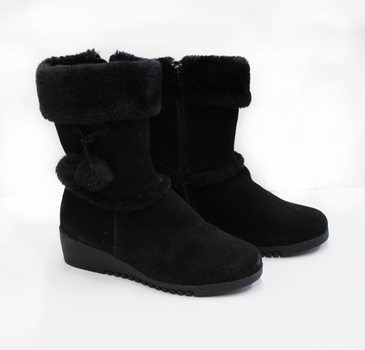 Women's Suede Wedge Boots - Size 8