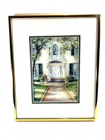 VTG Framed Litho Print  by Trish Romance 1987