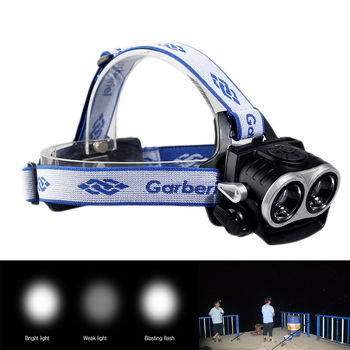 Garberiel 20 000 Lumen DUAL XML T6 Zoomable LED Headlamp