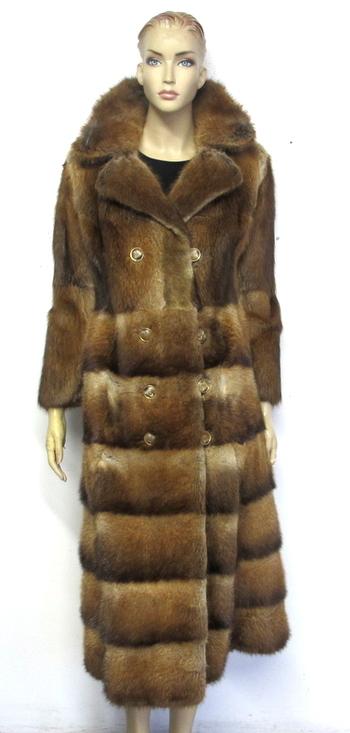 Vintage Women's Muskrat Fur Coat - Size XS/S