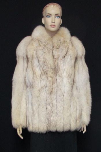 Fox Fur Jacket - Size S- $4550.00 Cold Storage Value