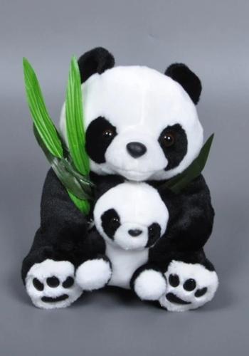 MOTHER BABY PANDA STUFFED PLUSH TOY