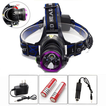 5000 Lumen 3Modes XML T6 LED Headlamp-Purple