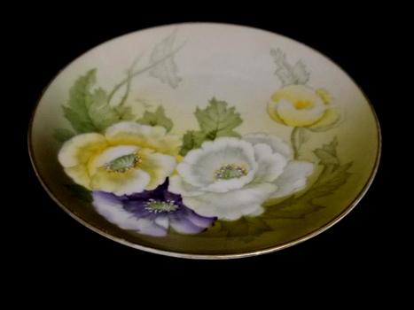 VTG Hand Painted Ceramic Plate