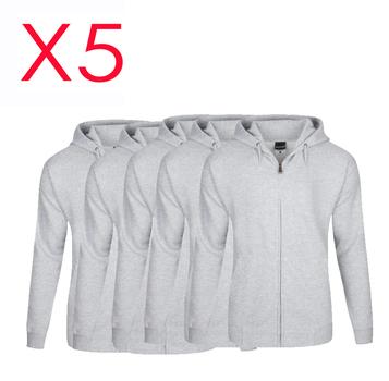 5X - Grey Zipper Hoodies - Size Small - Unisex