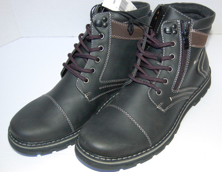 NWT Men's Keith Boots Black Brown Size 9
