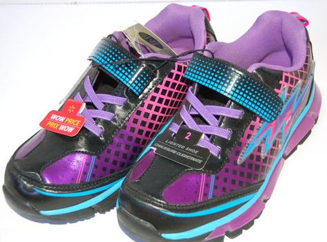 Girls' Light-Up Sneakers Purple Blue Size 2