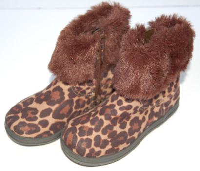 Girls' Lila Booties Brown Cheetah Print Size 9