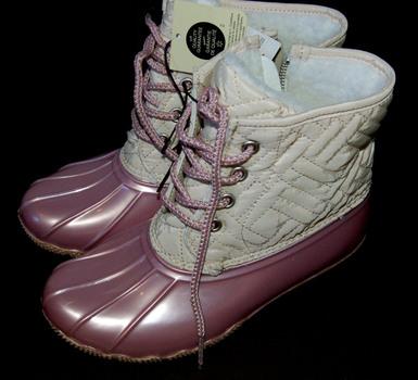 Girls' Transit Boots White/Pink Size 2