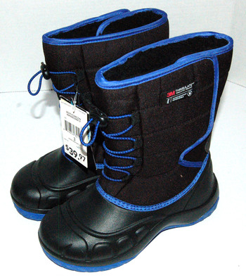 NWT Boys' Parker Winter Boots Black Blue Size 3