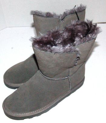Women's Short Winter Boots Grey Size 7