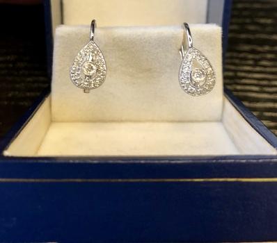 Set of 18k White Gold Diamond Earrings