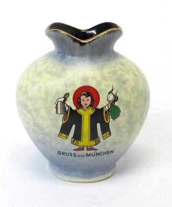 Vintage German Souvenir Small Vase/Container