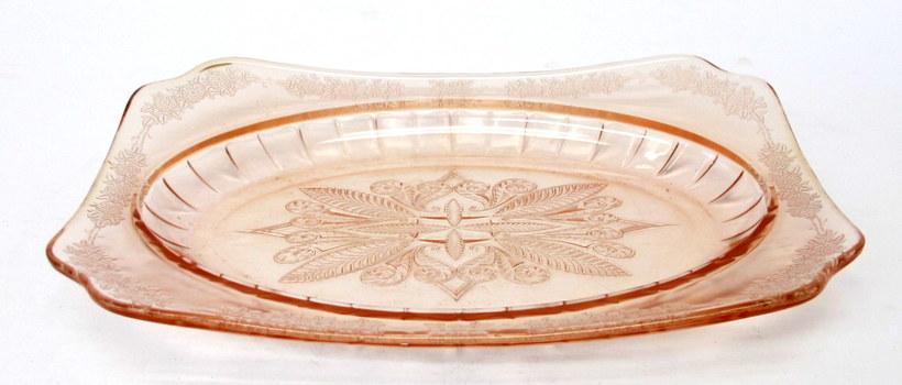 Vintage Pink Depression Glass Serving Dish