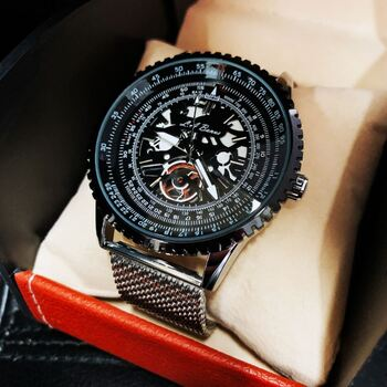 Men's LA BANUS Skeleton Dial Watch