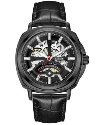 Edison Classic Skeleton Face Automatic Watch - Retail $525.00