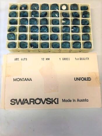 Swarovski Montana Crystals Austria 1970's 48 Pieces