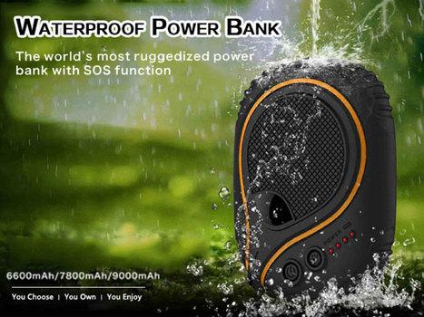 Rugged Three-Anti Mobile Power Bank 6800mAh WATERPROOF