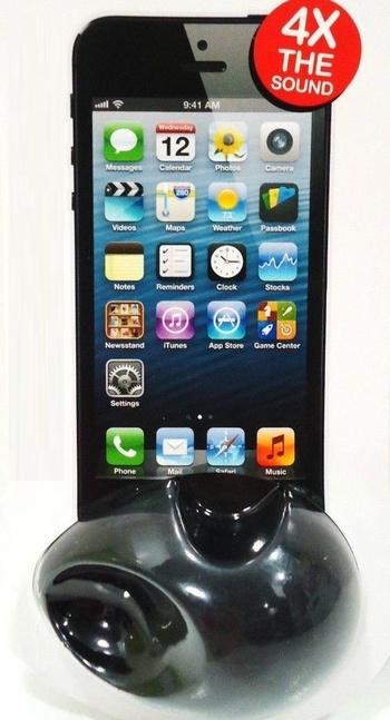 VIBE - SOUND - APPLE - iPHONE - 5 - ACOUSTIC - SPEAKER - BLACK - NEW - iTUNES