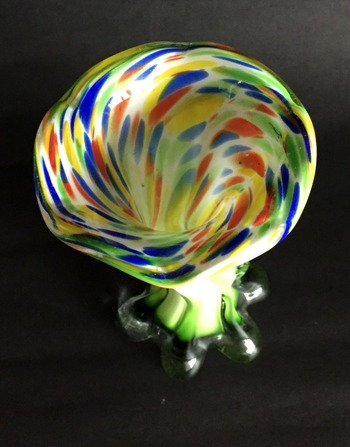 """Vintage Murano Art Glass  """"End of Day"""" Vase"""