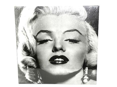 Marilyn Monroe Stretched Canvas Black & White Portrait