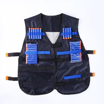 Adjustable Tactical Vest Hunting Gear Set Dart storage Pocket for NERF N-Strike
