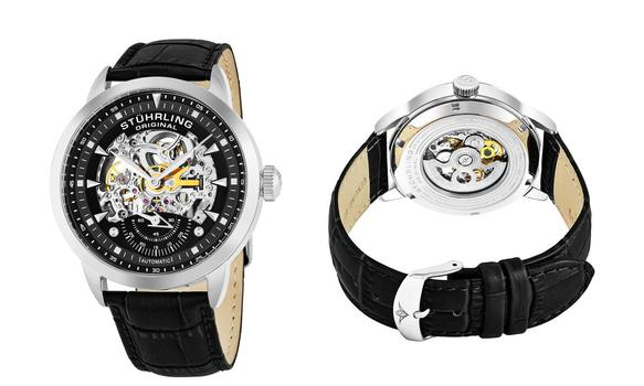 Stuhrling Men's Automatic Legacy Leather Strap Watch $1673.99