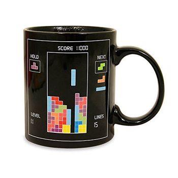 Tetris Heat Sensitive Color Change Mug Cup Porcelain New
