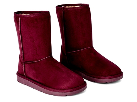 New With Tags Women's Short Winter Boots Maroon Size 8