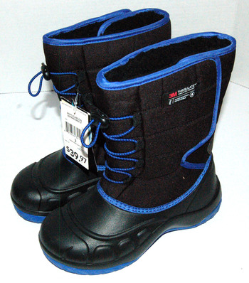 New With Tags Boys' Parker Winter Boots Black Blue Size 3