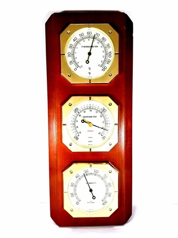 Vintage Sunbeam Thermometer Barometer Humidity Combo Made in USA