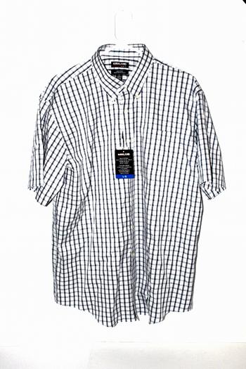NWT Kirkland Signature Mens Short Sleeve Non-Iron Dress Shirt L
