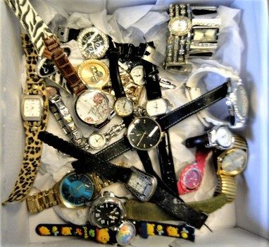 Unclaimed Box from Storage Locker - Watches