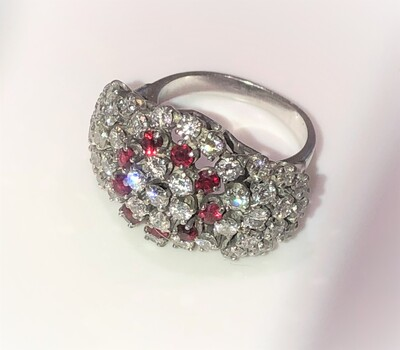 2.16 Carat 14 kt Gold & Ruby Ring Sz 6-3/4 Appraised $5,300.00