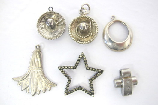 Collection of 6 Sterling Silver Charms