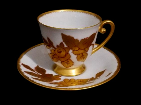 VTG Tirschenreluth Germany Hand Painted Porcelain Fine Bone China Cup & Saucer