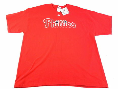 Official MLB Majestic T-shirt Philly's 2XL Red - New With Tags
