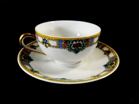 Vintage Limoges France Fine Bone China Cup And Saucer