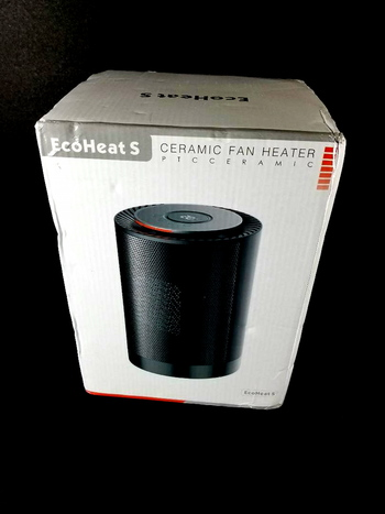 EcoHeat S PTC Ceramic Fan Heater 1200 W - 220V (Euro Plug) Rapid Heat - New Open Box