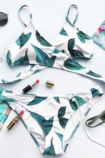 NWT Cupshe Court And Spark Fresh Leaves Bikini Set - Size M