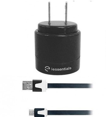 iEssentials Dual USB 2.4A 10W Wall Charger with Cable