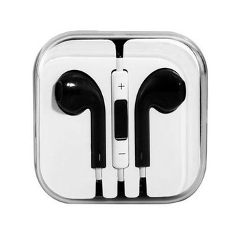 Earphones with Microphone Premium Earbuds Stereo Headphones and Noise Isolating headset Made for Apple iPhone iPod iPad Black