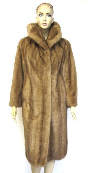 Women's Caramel Color Mink Coat-Size M/L