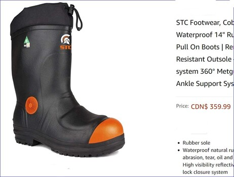 STC Cobalt Steel Toe Boots Sz 12 Retail $359.99